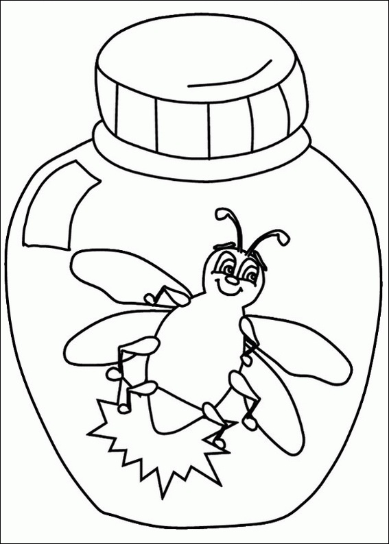 Lightning Bugs Coloring Sheets.