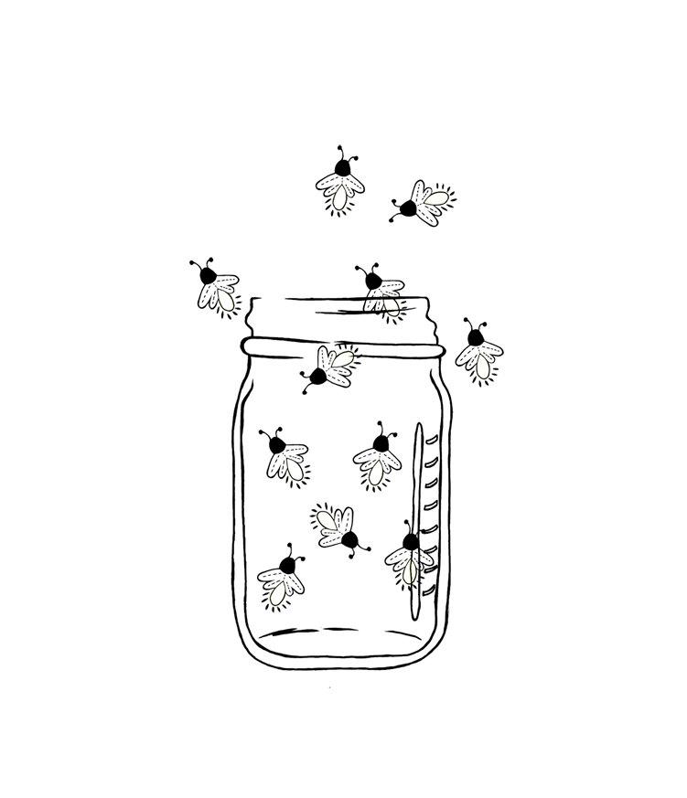 Mason Jar Image Outline.