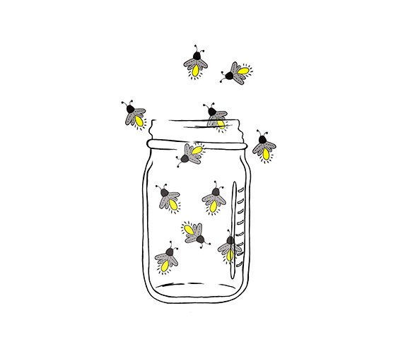 Download Free png Mason Jar Image Fireflies Lightning bugs.