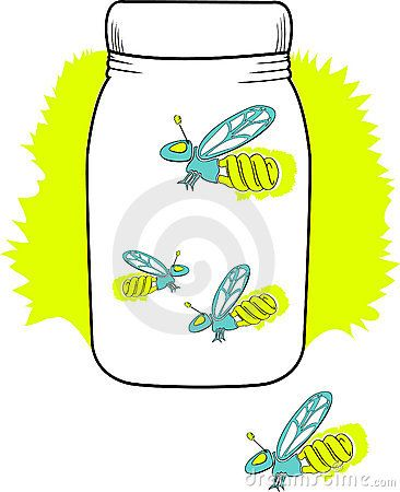 Lightning Bug Jar Clip Art.