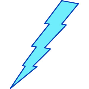 Blue lightning clipart.