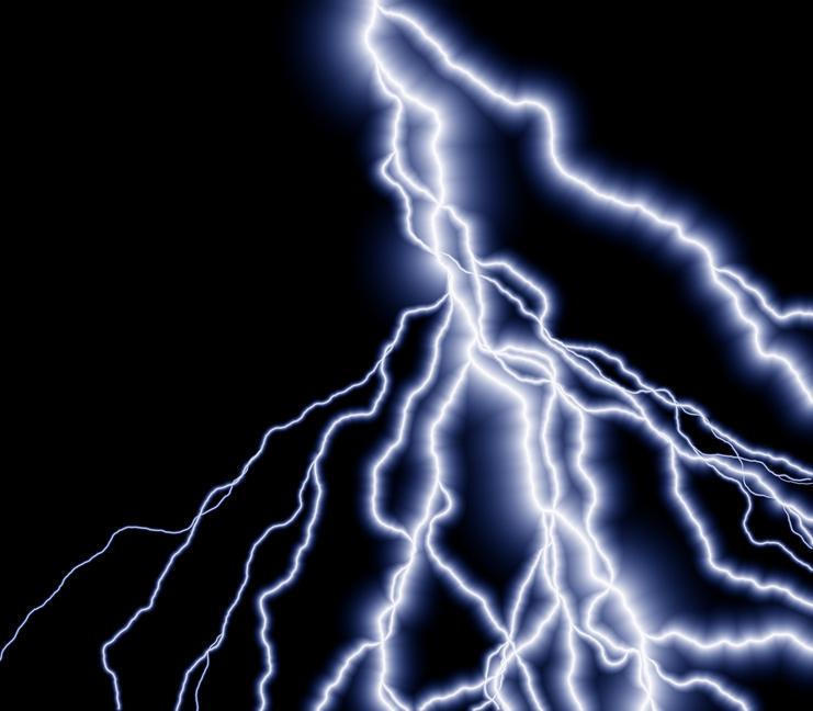 Realistic Lightning Clipart.
