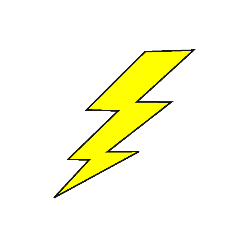 Lightning Bolt Animation Clip art.