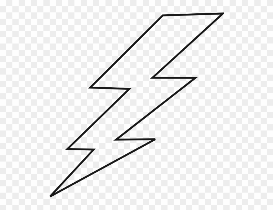 Lightning Black Bolt Clip Art.