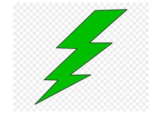 Green Lightning Bolt Clipart.