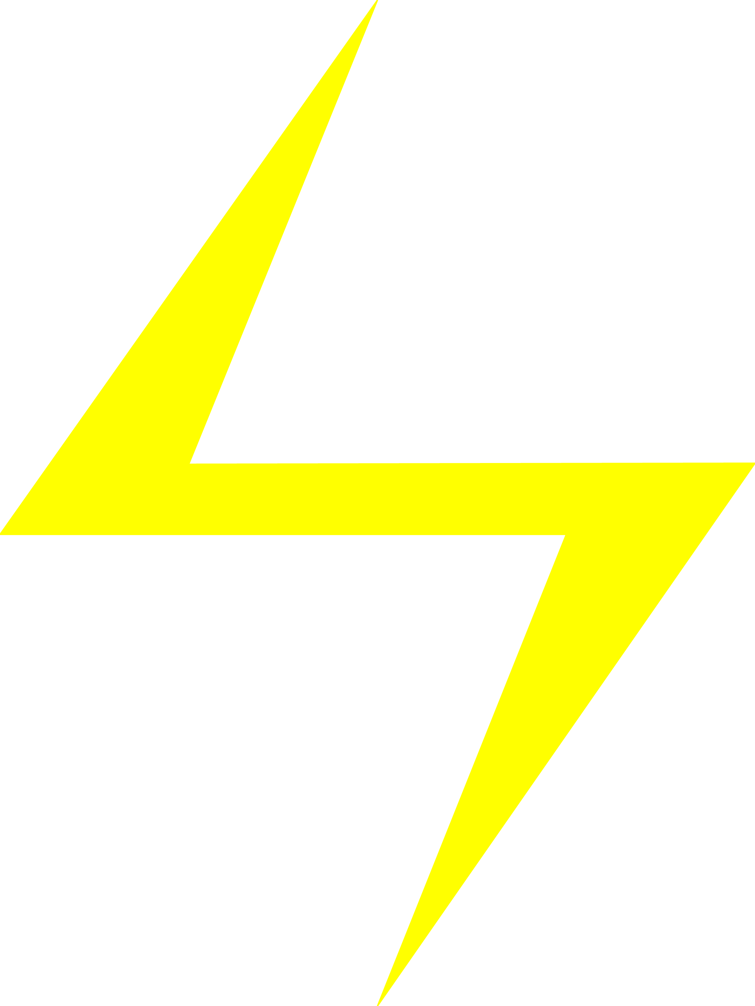 Yellow Lightning Bolt Clipart Png #44050.