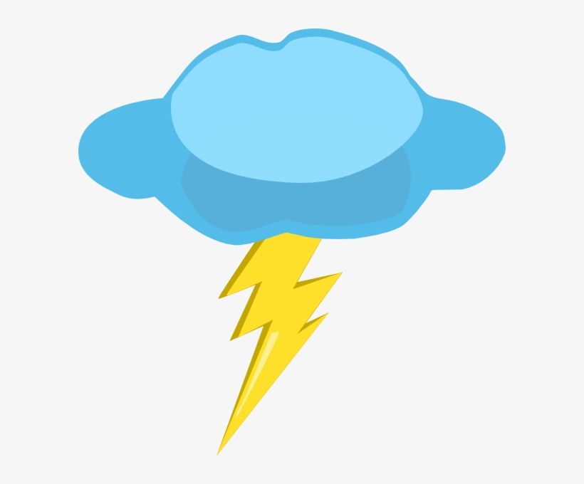 Clouds And Lightning Clipart PNG Image.