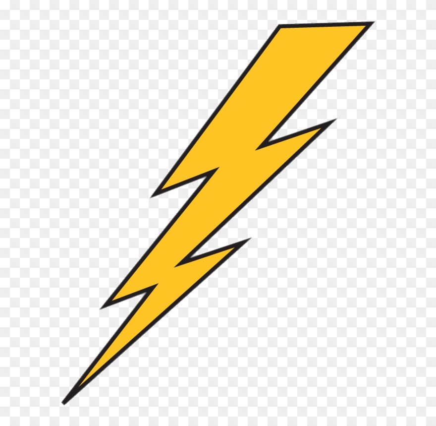 Download Lightning Bolt Yellow With Black Outline.