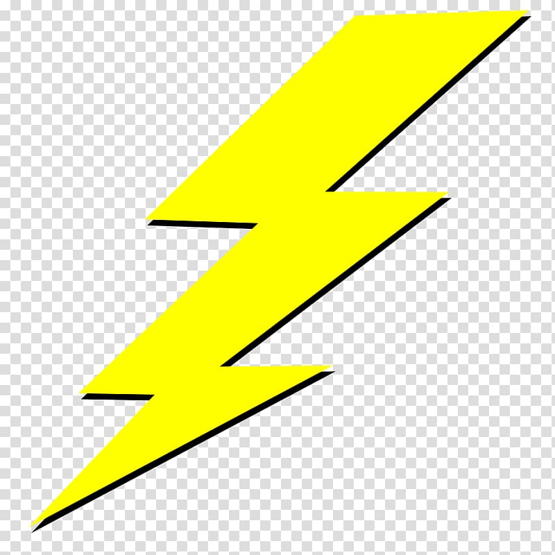 Yellow lightning icon, Lightning , lightning transparent.