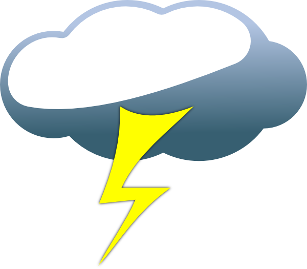 Clip Art Of Rain And Lightning Clipart.