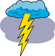 Lightning Cloud Clipart.