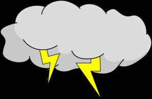 Cloud lightning clipart.