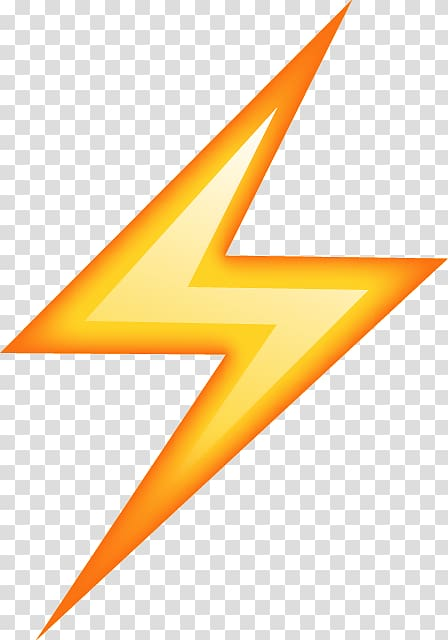 Winamp logo, Emoji Lightning Sticker Thunder, Emoji.