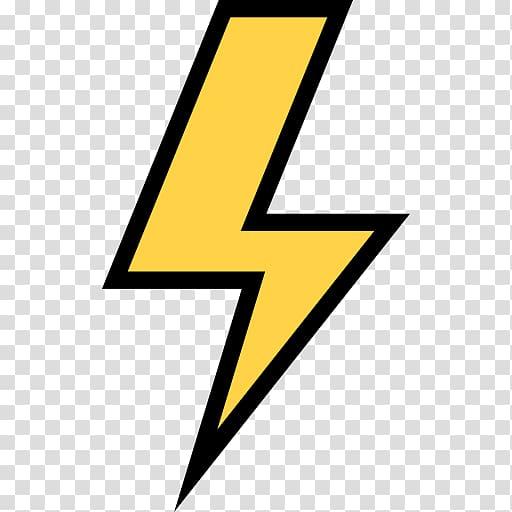 Yellow lightning logog, Symbol Emoji Electricity Computer.