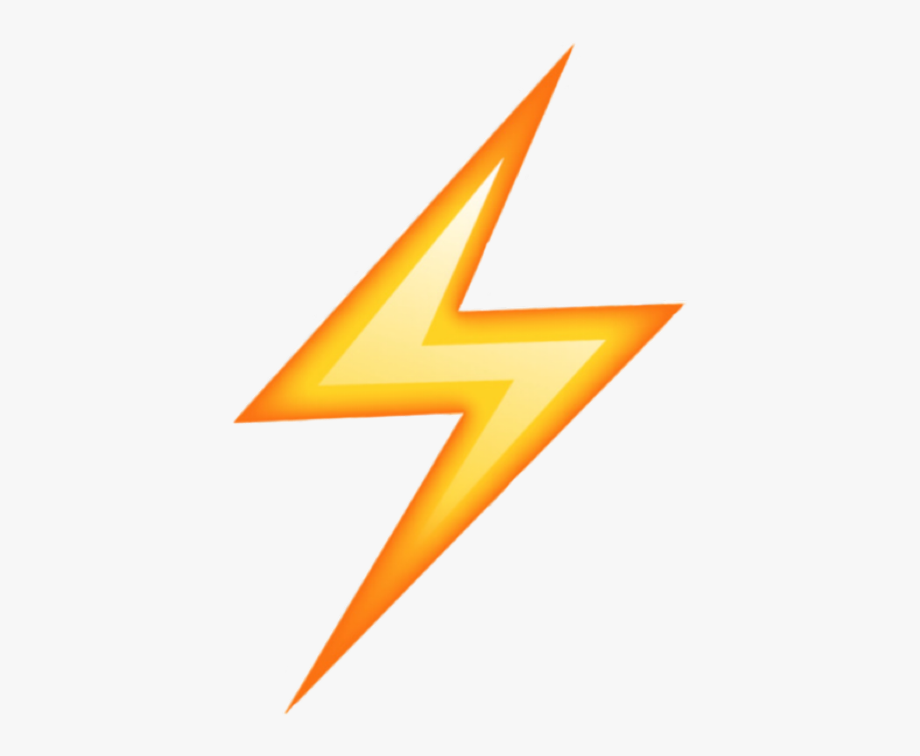 Lightning Bolt Emoji Png , Transparent Cartoon, Free.