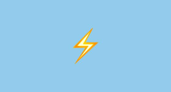 ⚡ High Voltage Sign Emoji.