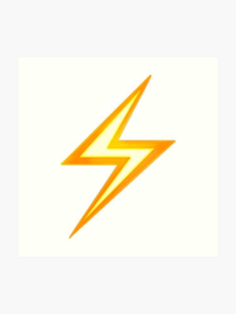 Lightning Bolt Emoji.