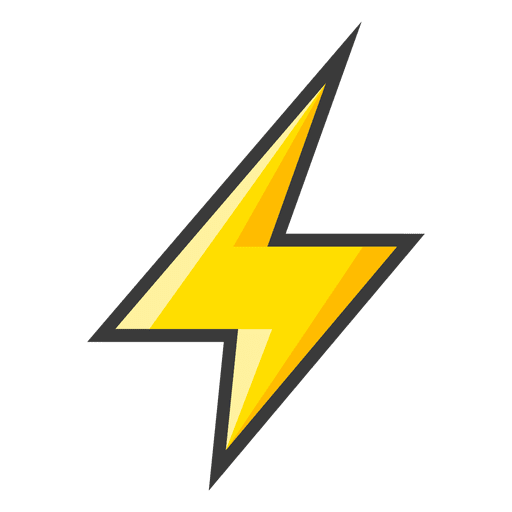 Yellow lightning bolt icon.