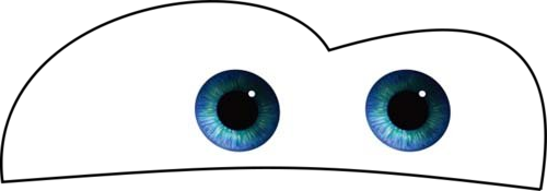 Lightening Mcqueen printable eyes save to desktop and print.