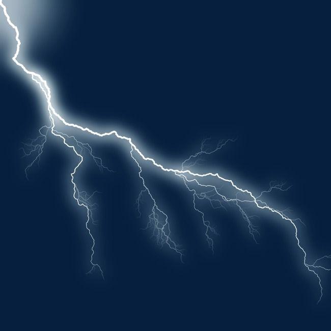 Thunder And Lightning, Lightning Clipart, Highlight Image.