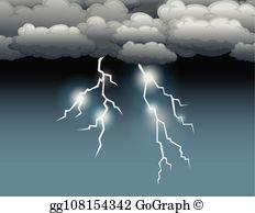 Lightning Storm Clip Art.