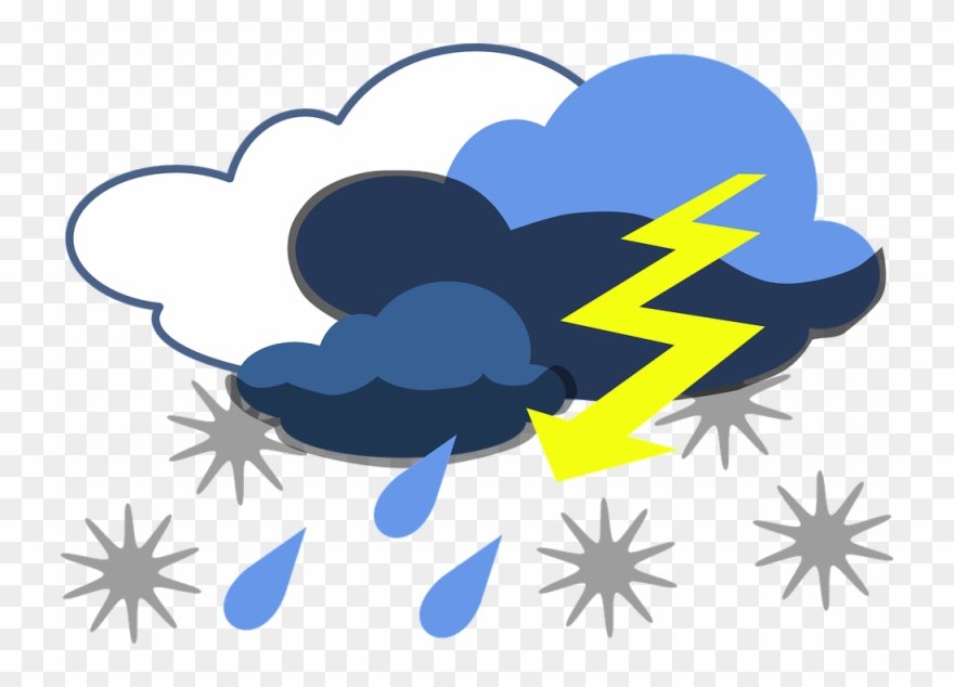 Thunderstorm Clipart Free Lightning Storm Thunder Free.