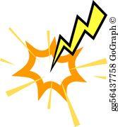Lightning Strike Clip Art.
