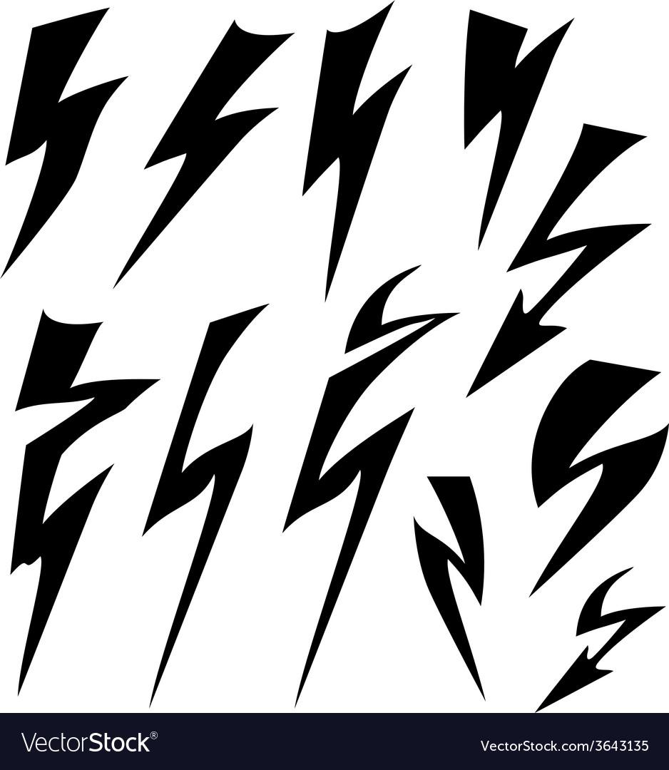 Flat sign of lightning.