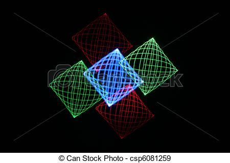 Stock Illustration of Light Painting.