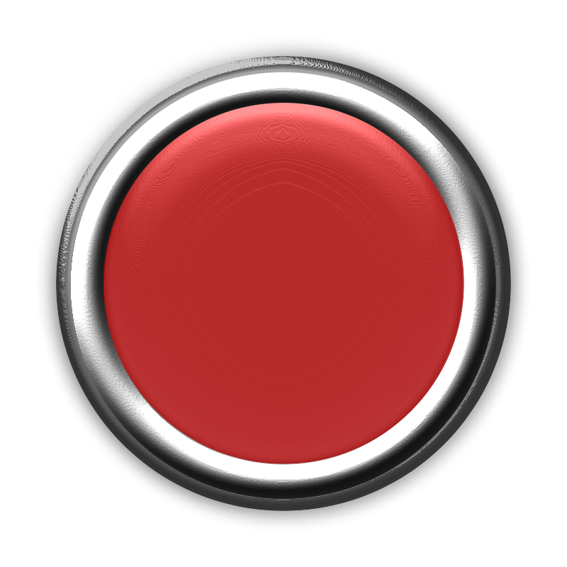 Free Clipart: Red Button with Internal Light Turned Off.