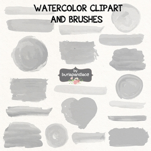 Vector Watercolor clipart/brush.
