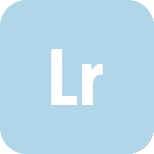 Adobe, lightroom, rounded icon.