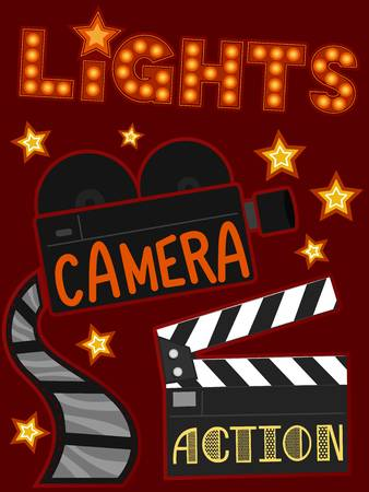 326 Lights Camera Action Stock Vector Illustration And.