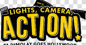 Lights Camera Action transparent background PNG cliparts.