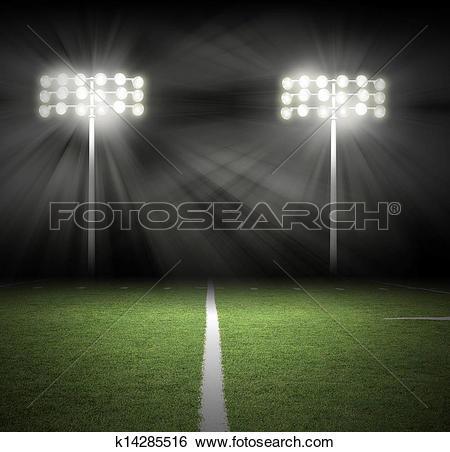 Stock Images of Stadium Game Night Lights on Black k14285516.