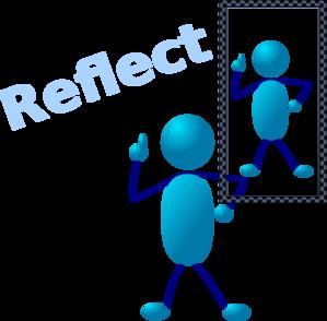 Teacher reflection clipart.