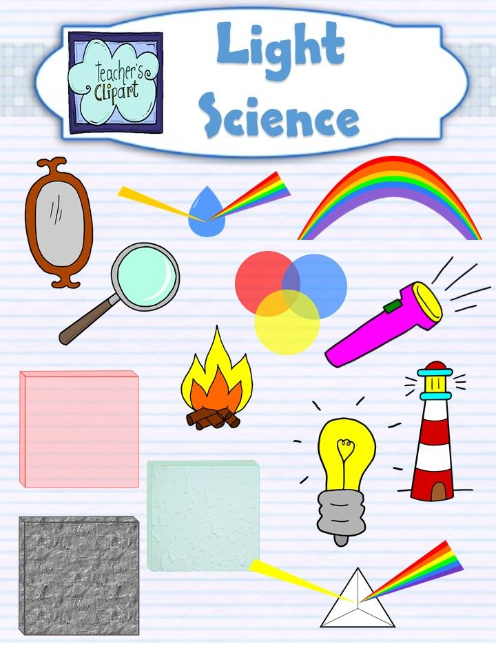 Light and Colors Science Clip Art.