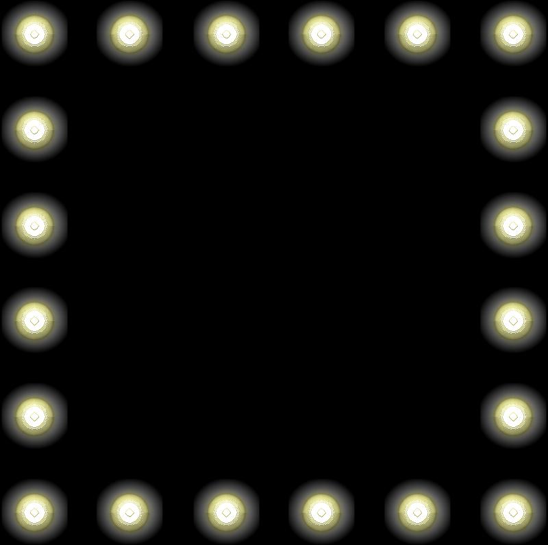 Hollywood Mirror with Light Bulbs clip art.