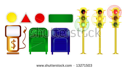 City Clip Art Suitable For Urban, City, Architecture Designs: Gas.