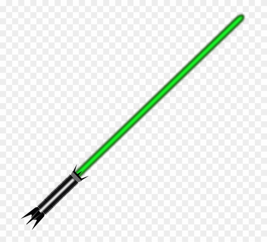 Light Saber Green Png Clipart (#687243).