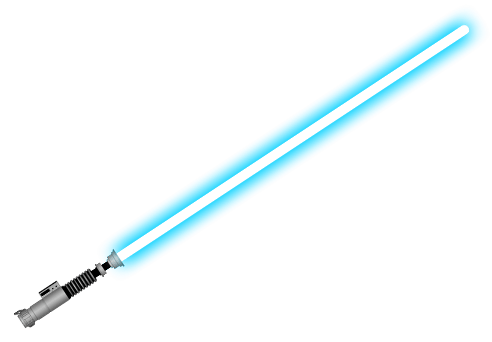 Blue Lightsaber transparent PNG.