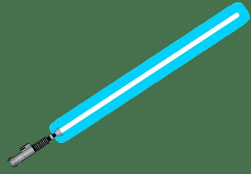 Blue Lightsaber transparent PNG.