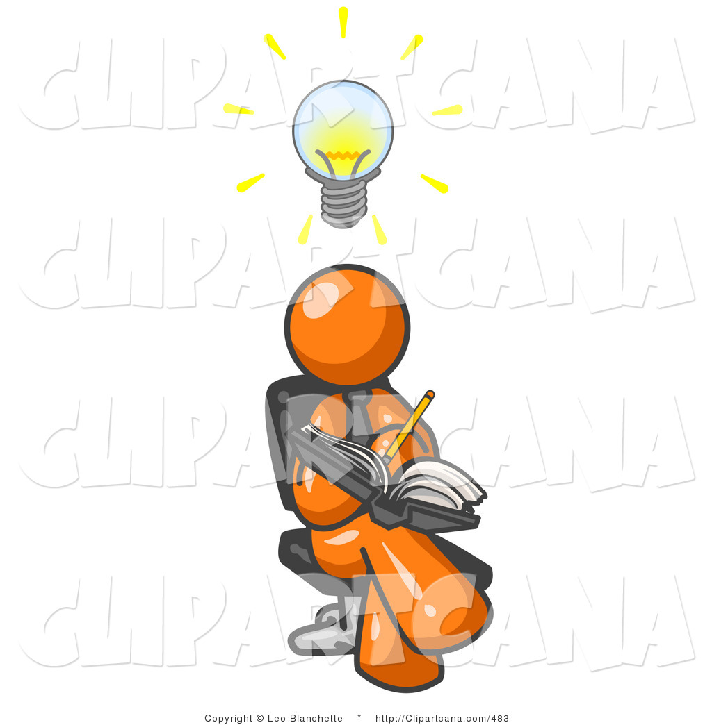 Person holding light bulb clipart.
