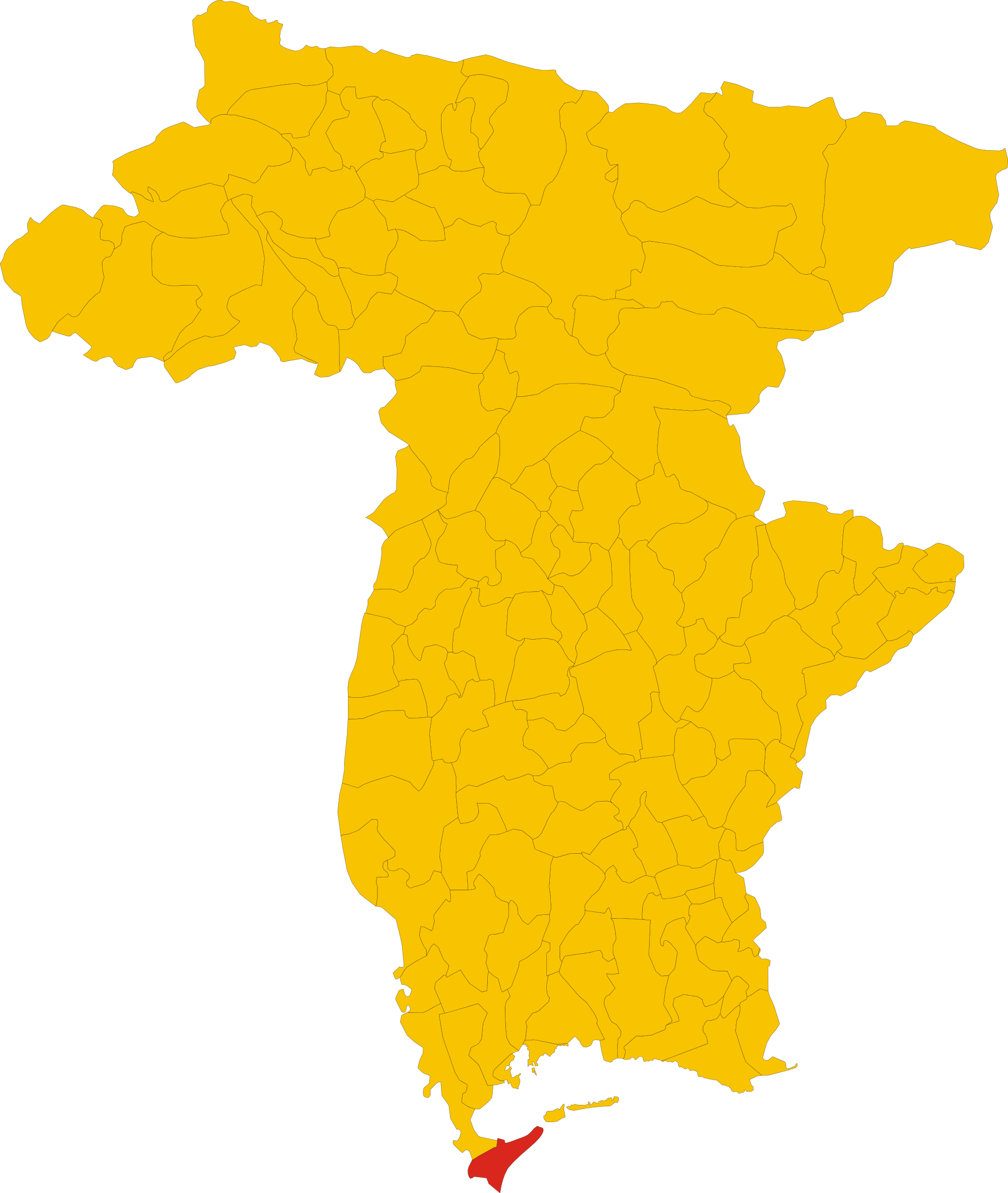 File:Map of comune of Lignano Sabbiadoro (province of Udine.