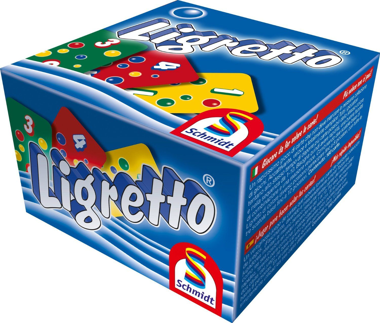 LIGRETTO Blue Edition Fast Paced Card Game by Schmidt.