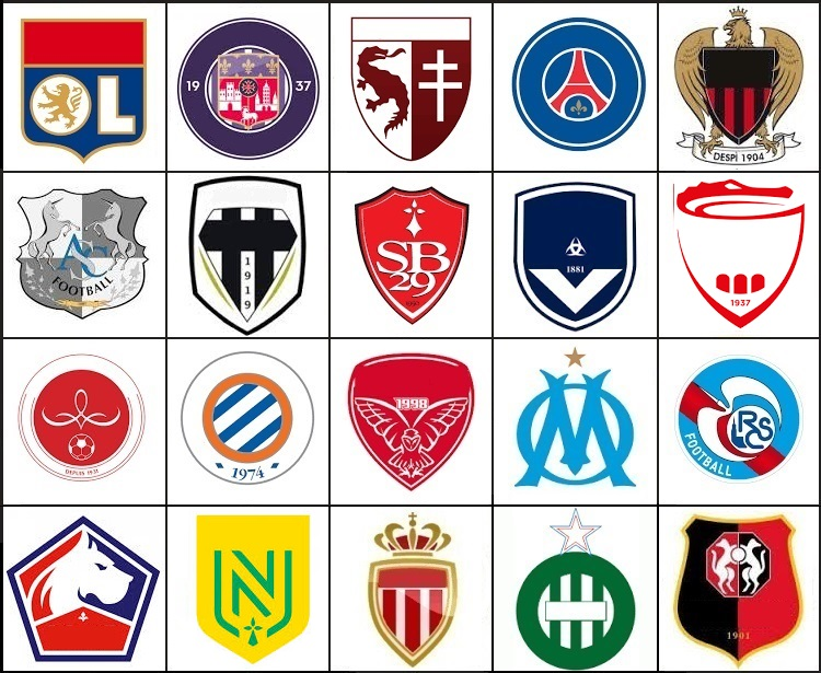 Click the Ligue 1 Logos Quiz.