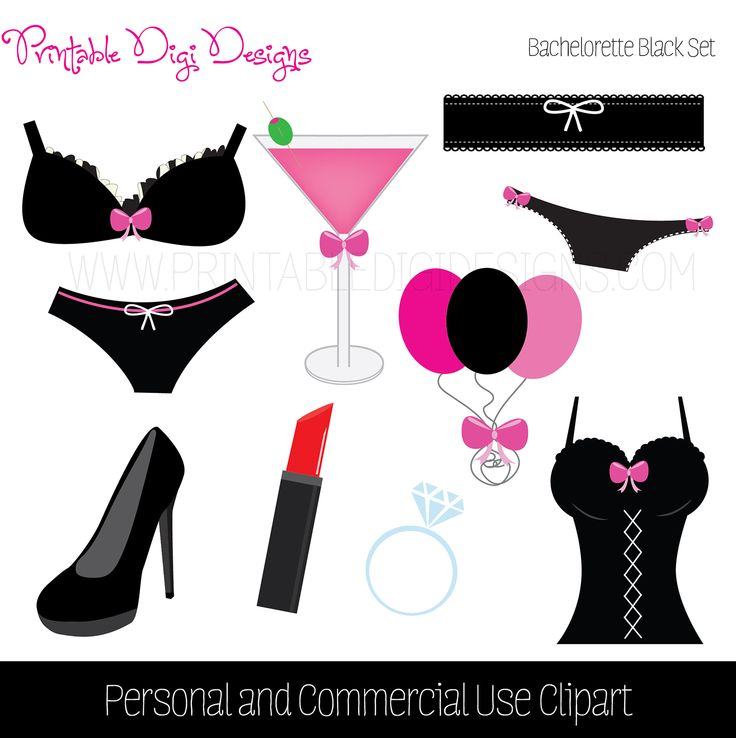 Lingerie For Invitations Clipart.