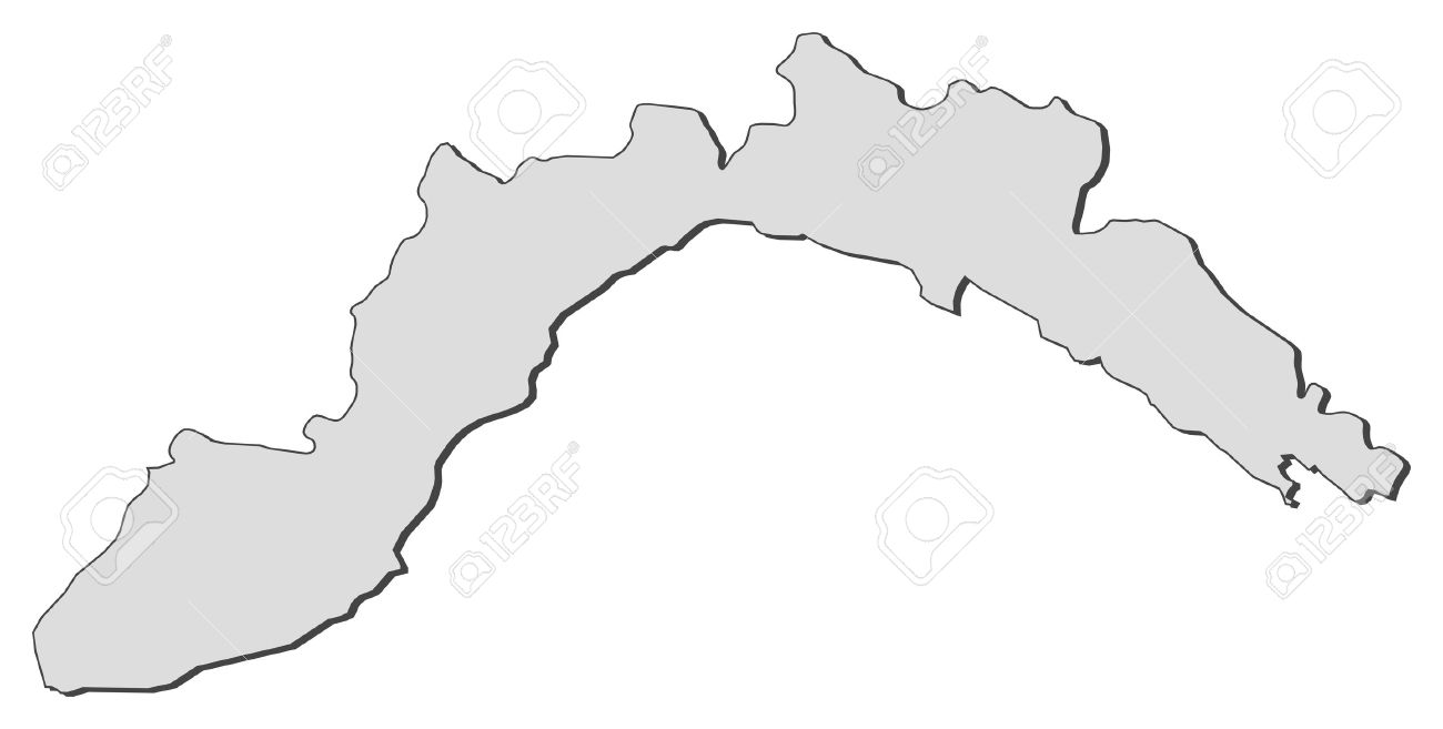 Map Of Liguria, A Region Of Italy. Royalty Free Cliparts, Vectors.