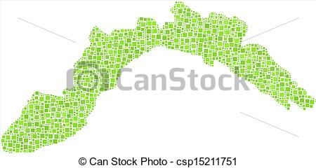 Clipart Vector of Isolated Map of Liguria.