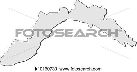 Clipart of Map of Liguria (Italy) k10160730.
